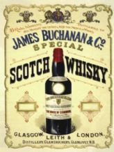 James Buchanan Whiskey Metal Wall Sign (2 sizes)